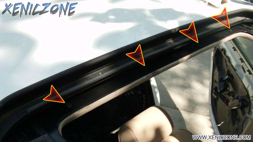 How Do I Remove The Sunroof Shade